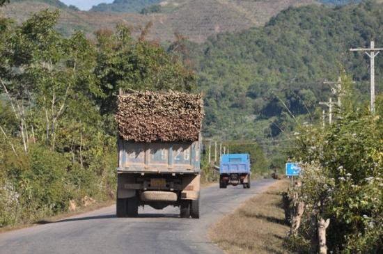 中国国境への道